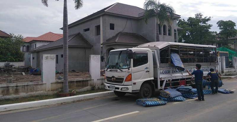 Roof insulation in Villa Nakarin